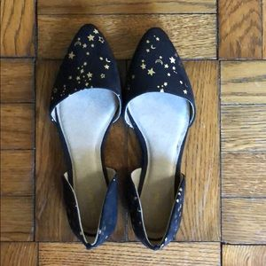 Old Navy Moon and Stars flats size 8, never worn